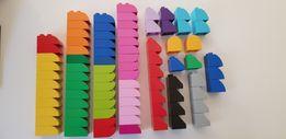 KLOCKI BUDOWLANE daszki kolorowe s.bdb konstrukcyjne - LEGO DUPLO