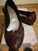 Buty skórzane brąz/czekolada