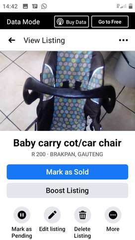 Chelino carry cot/car chair 13kgs