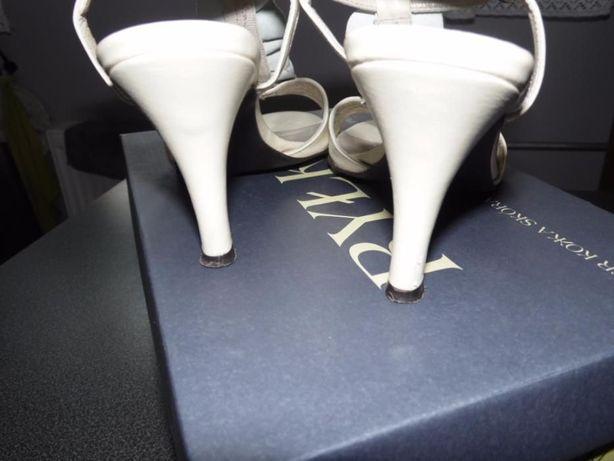 Skórzane buty kremowe, r.36,5, Ryłko Rybnik - image 5