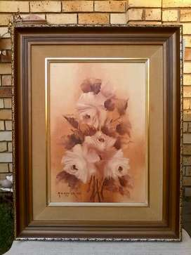 Flower Oil painting by Mia Venter. 1981