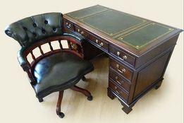 Английский письменный стол и кресло Chesterfield