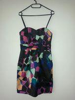Sukienka tulipan bombka h&m 36 geometryczne wzory