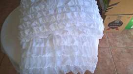Box 16 with fabric satins, frilled tulle, linen,lining - 43 m