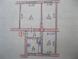 Продам 3х комн. кв. 64 м2 с гаражем, сараем, погребом, район школы №1