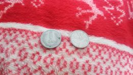 Dwie monety 1 złoty polski z roku 1949 i 1983