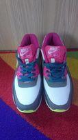 Buty Sportowe NIKE AIR MAX 90 Białe Szare Różowe Żółte 38 NOWE