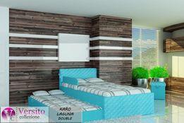 Niebieskie łóżko dla dziecka,łóżko piętrowe z materacami,piękne kolory