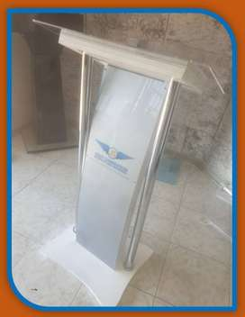 Customized Curved Silver Grey Podium