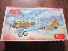Самолет Биплан ПО/2 - сборная модель ( СССР)