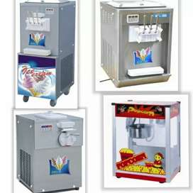 Brand new ice cream and popcorn machines