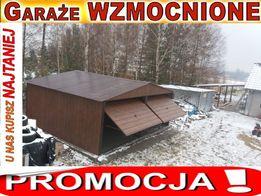 Garaże,garaż blaszany 6x5.6x6 wzmacniany struktura drewna orzech, RATY