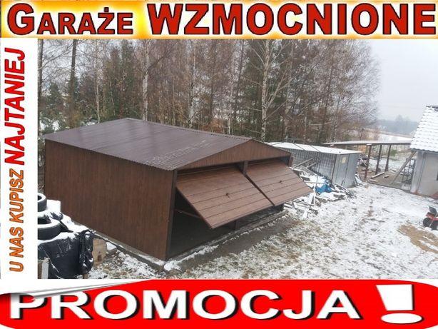 Garaże,garaż blaszany 6x5.6x6 wzmacniany struktura drewna orzech, RATY Włocławek - image 1