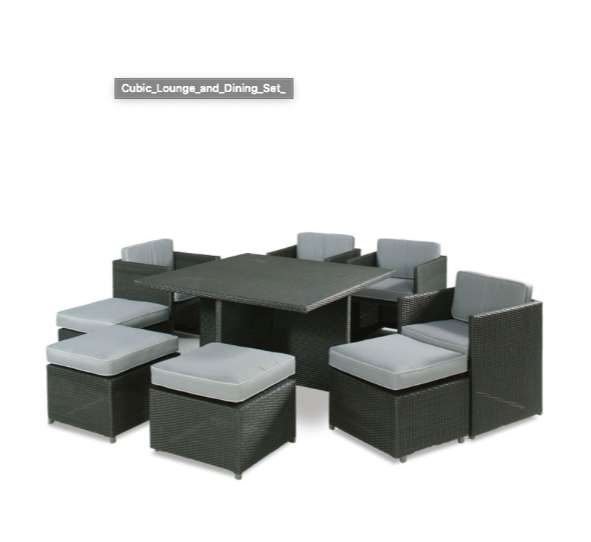Mobelli Cubic Lounge & Dining Set 0