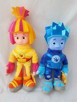 Фиксики мягкие игрушки Симка и Нолик 26 см, 30 см музыкальные