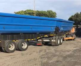 Sidetipper Trailer to rent
