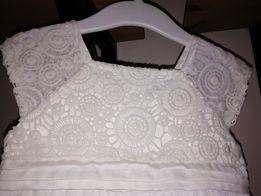 sukienka + sweterek, chrzest, 86-92