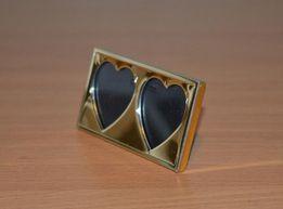Рамка портретная для фотографий Два сердц.НОВАЯ!!!