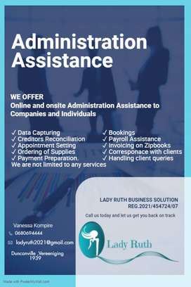 Administration Assistance Offered
