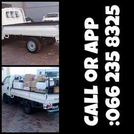 Trucks and bakkies and trailers available for hire