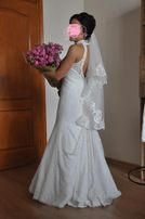 Свадебное платье цвет айвори со шлейфом