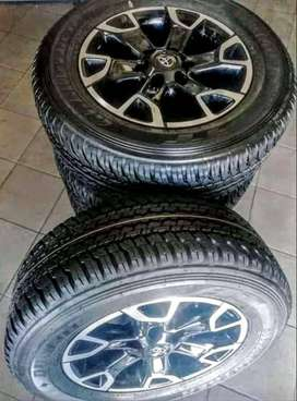 """18""""Toyota Legend 50 mags with brand new tyres 265/60/18 Dunlop R15000."""