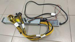 Блок питания HP 2450W, желтый. (GPU miner)
