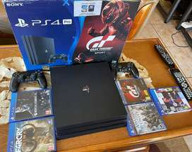 PS4 PRO for sale. 2x controllers 5 games. Great condition