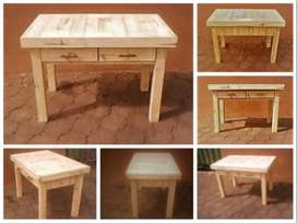 Study desk Farmhouse series 1175 with drawers - Raw