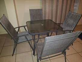 Patio 4 chairs and Table