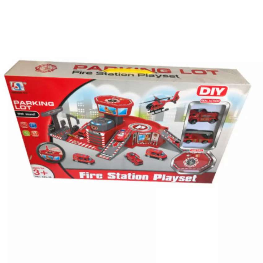 Fire Station Playset with Sound 0