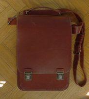 Сумка портфель кожа ручная работа гравировка Козел