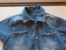 Koszula jeans krótki rękaw