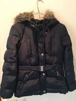 Куртка зимняя Zara, темно-синяя для девочки