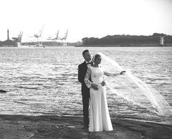 Suknia ślubna Agnes CRYSTAL COLLECTION 2015 + welon