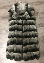 Жилетка из меха Шиншилы, фабричная Турция,куртка,пуховик,шуба,шиншила