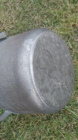 Kociołek żeliwny 10 litrowy Duży Garnek na stojaku zakręcany Rybnik - image 6