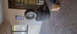 Mags rim with tyres for sale at R4 900