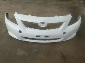 Toyota corolla front bumper and bonnet