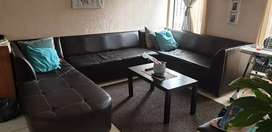 8 Seater synthetic leather couch
