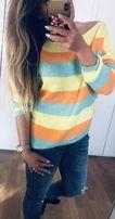 Nowy sweter paski rozmiar uniwersalny!