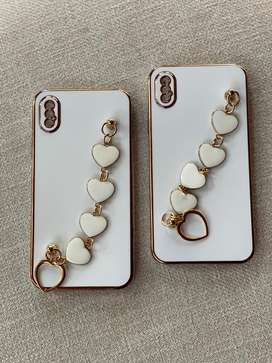Chain with heart cases for iphone