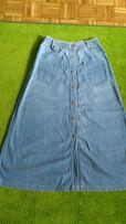 Spódnica dżinsowa maxi na guziki r 36