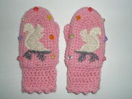 Хендмейд Авторские детские рукавицы/варежки на 1-2 года
