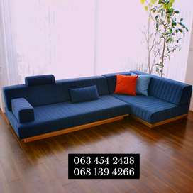 L - shape wooden Couch