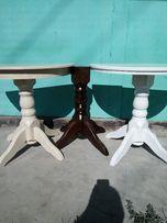 раскладной кухонный стол полностью из дерева ( бук ) .доставка