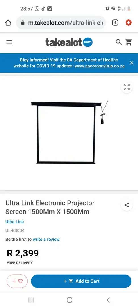 Projector and projector screen with tripod
