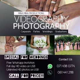 VIDEOGRAPHY AND PHOTOGRAPHY SERVICES