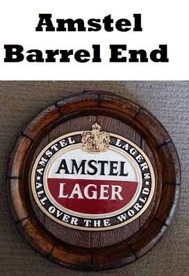 New Amstel Lager Barrel Ends. Brand New Products.