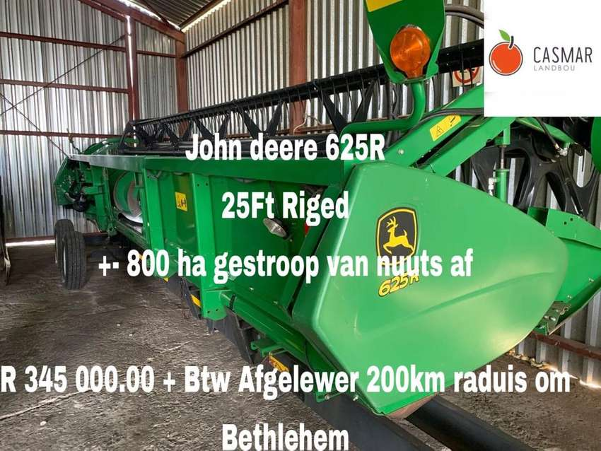 John Deere 625R 25 ft riged